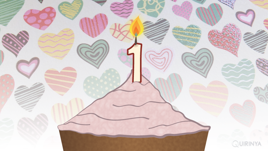 Quirinya's blog is 1 jaar!