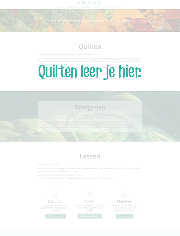 Quilten website